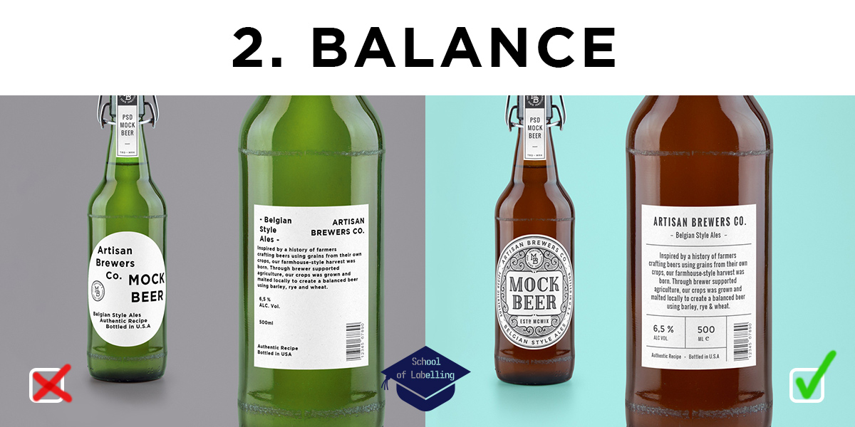 How to design a product label - quick guide about balance by Etiquette Labels