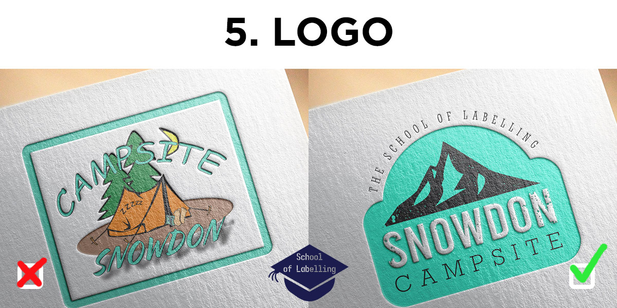School of Labelling - advice on logo design. How to create a good logo.