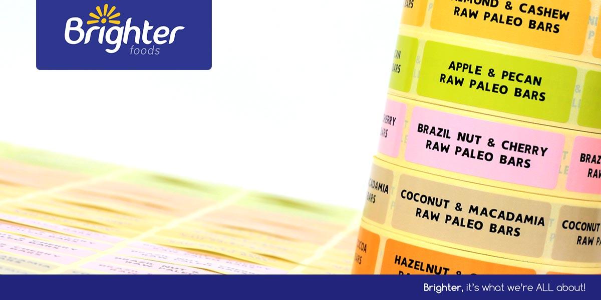 New printed labels for welsh snack bar manufacturer for Food bar manufacturers uk