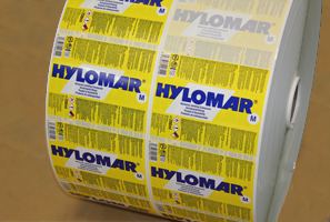 Etiquette's printing team have produces these labels for Hylomar