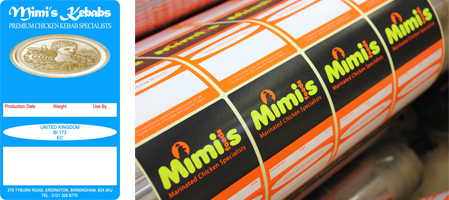Etiquette's production team have just printed the new design for Mimi's Kebab