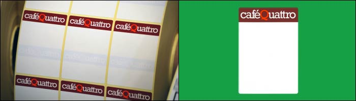 Caffe Quattro label printing from Etiquette