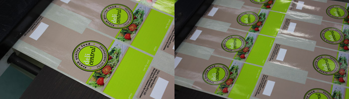 Printed labels for Deli Central