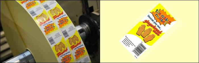 The Nibble Number printed self adhesive labels