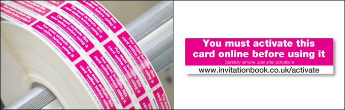 Intercard Printed Labels