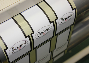 Printed labels for Jaimes Kitchen
