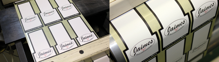 Printed labels for Jamies Kitchen