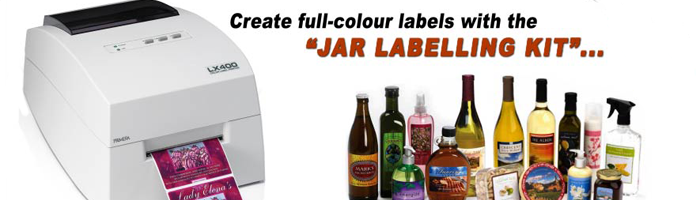 Jar labelling kit from Jar Labels