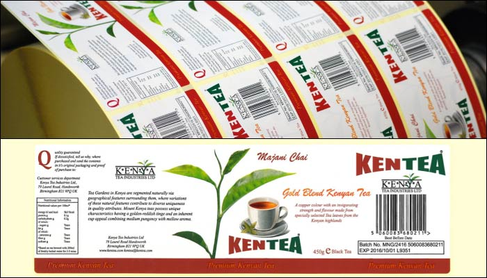 Kenya Tea Printed Labels