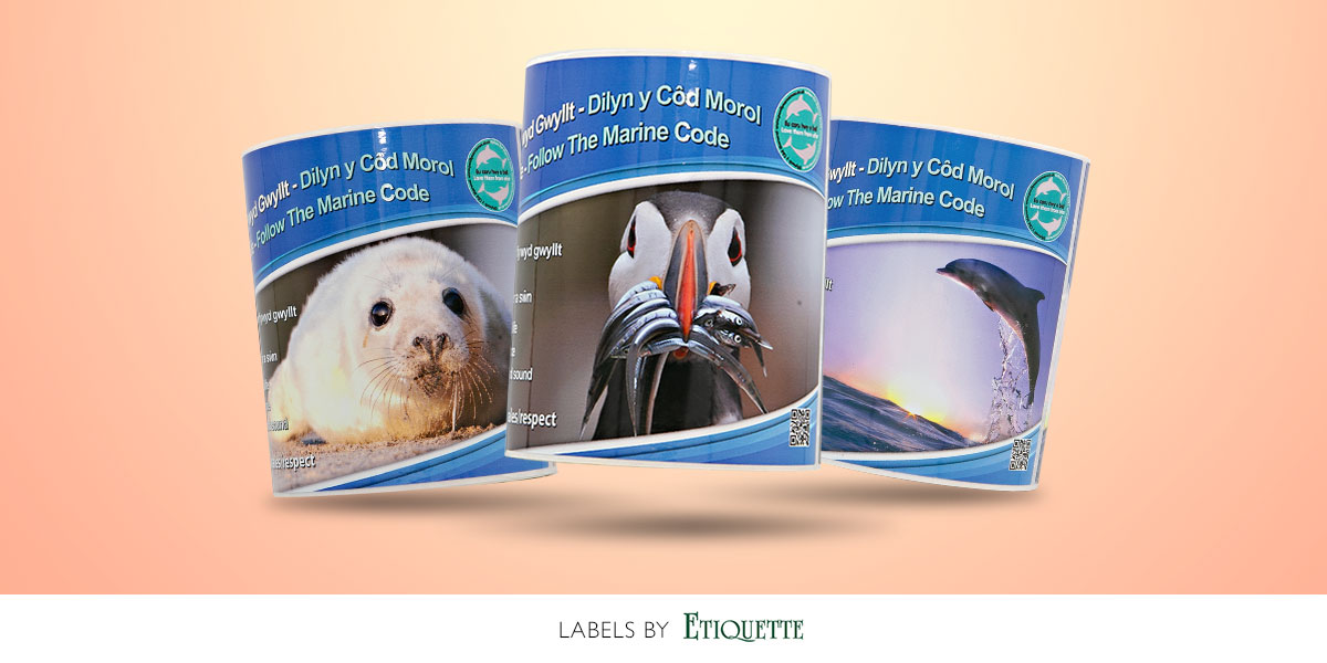 Digital, custom printed, self-adhesive labels by Etiquette Labels