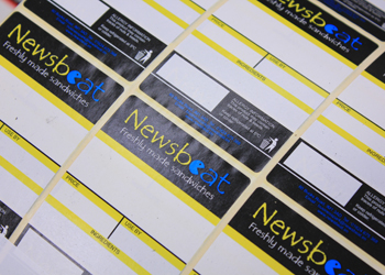 Printed labels for Newsbeat