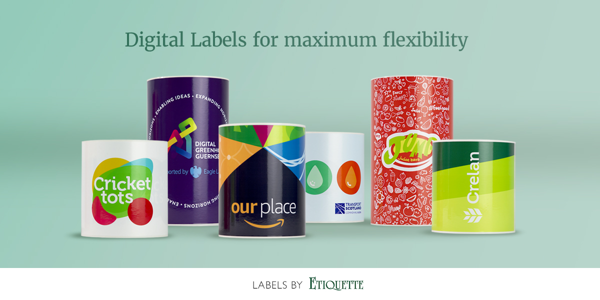 Digitally printed synthetic labels by Etiquette Labels, The UK Experts in Labels and Labelling