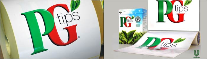 PG Tips printed self adhesive labels from the UK's leading label suppliers