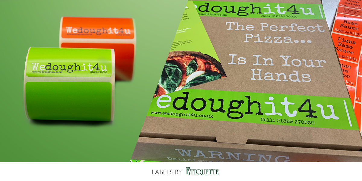 Self adhesive printed labels for pizza ingredients by Etiquette Labels