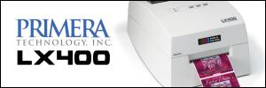 Primera LX400 colour inkjet label printer from Etiquette labels Ltd