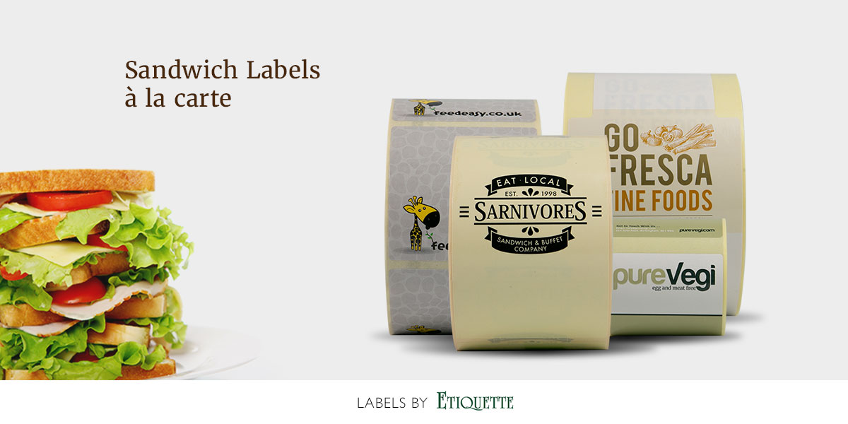Beautifully printed, self-adhesive sandwich labels by Etiquette Labels