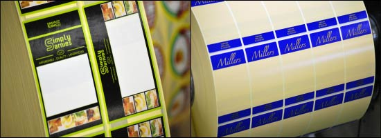 Sandwich label printing from the UK's leading label printers