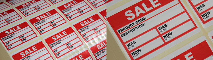 Printed labels for SCATS Countrystores