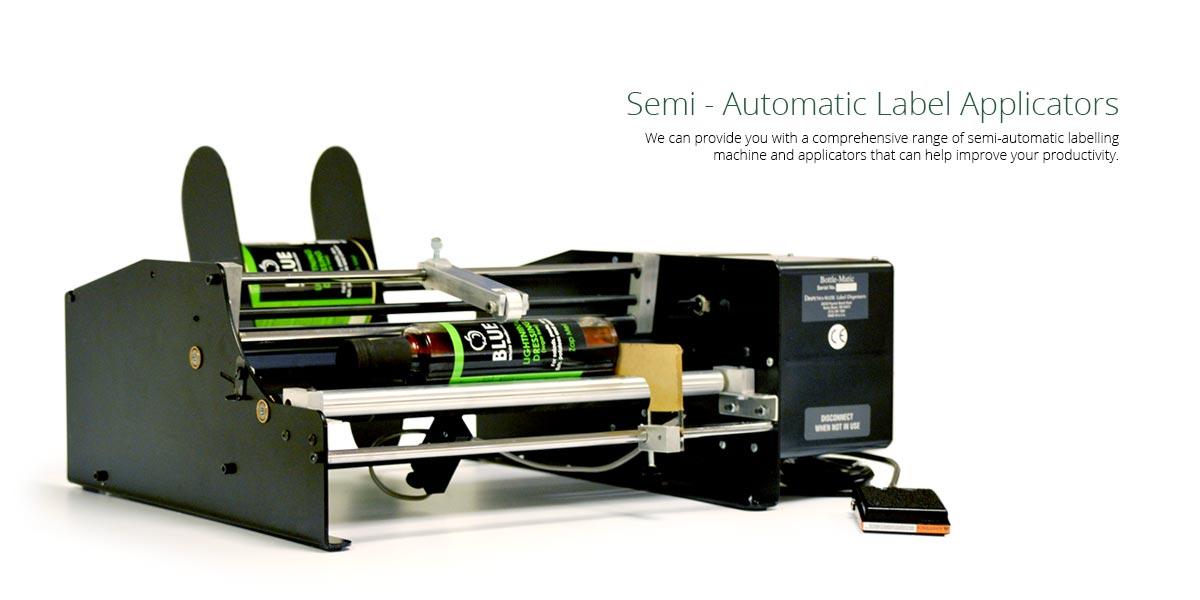 Automatic Label Applicator ~ Semi automatic label applicators from etiquette the