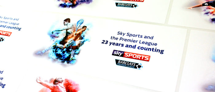 Sky Sports Printed Labels for the Barclays Premier League