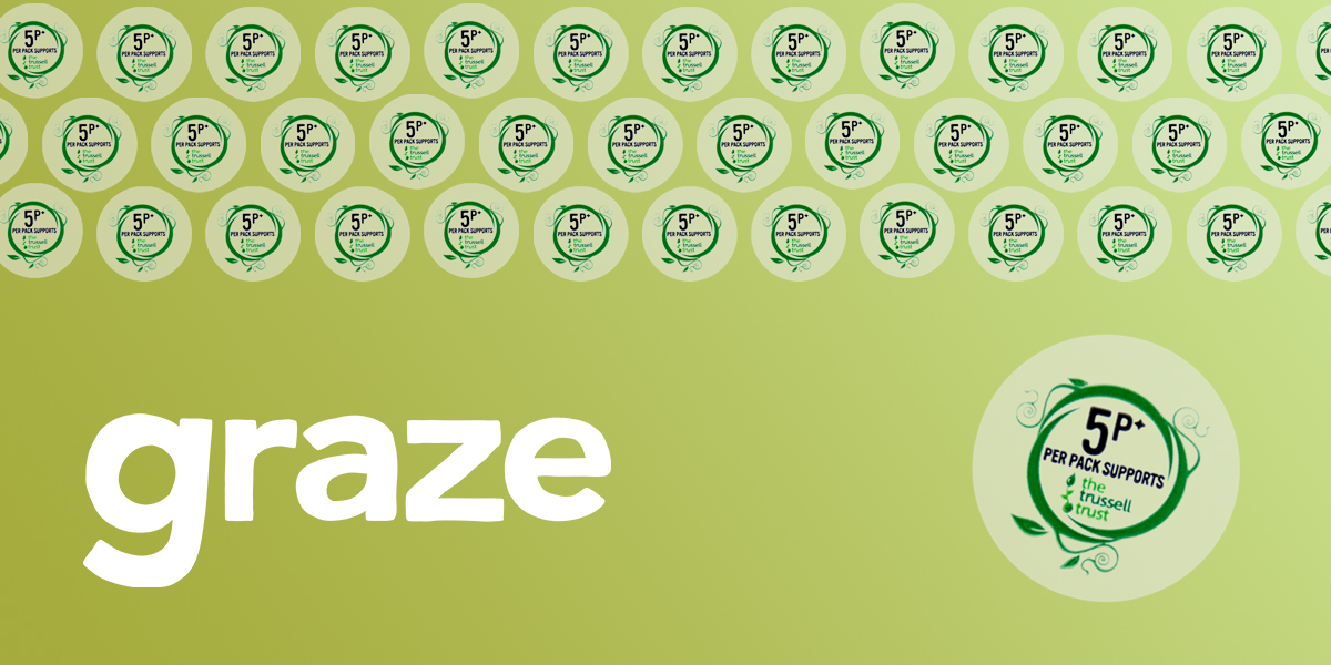 Small, round, clear, synthetic labels for Graze (Unilever) promotional campaign. Produced by Etiquette Labels