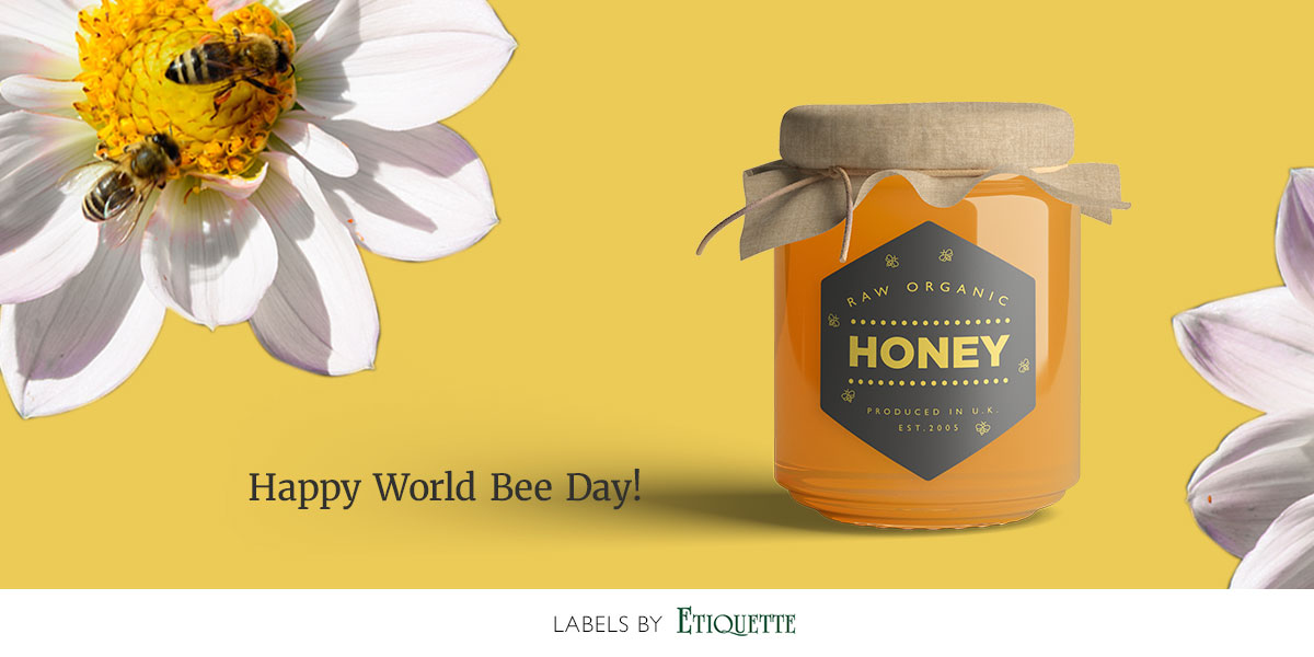 World Bee Day - Honey Labels by Etiquette Labels.