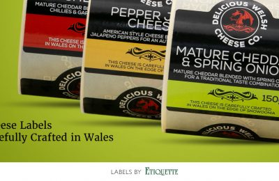 Printed Labels for Delicious Welsh Cheese Co.