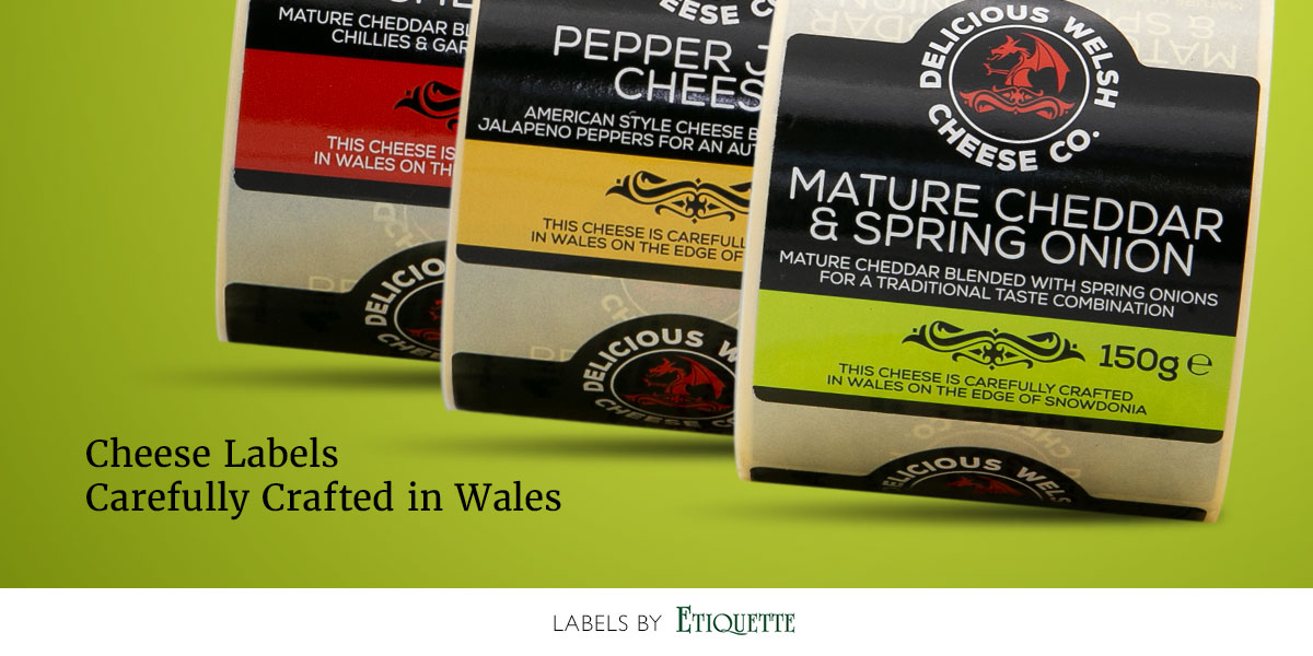 Self-adhesive, custom printed, cheese labels on a roll by Etiquette Labels