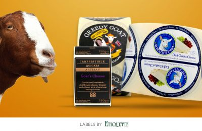 Labels? We've go(a)t them! Celebrating Goats Cheese Day.