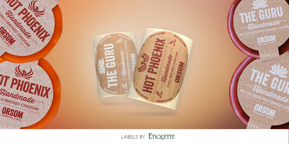 Cheese Labels - printed digital self-adhesive labels by Etiquette Labels
