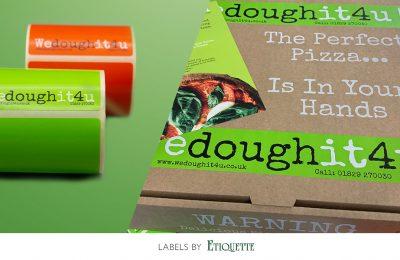 Custom Printed Pizza Kit Labels for We Dough It4U