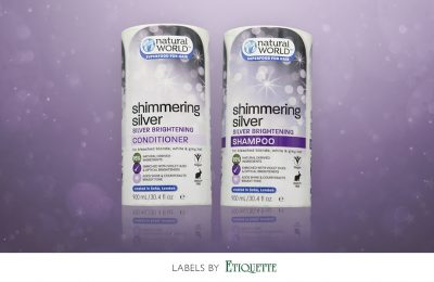 New Printed Shampoo and Conditioner Labels for Natural World