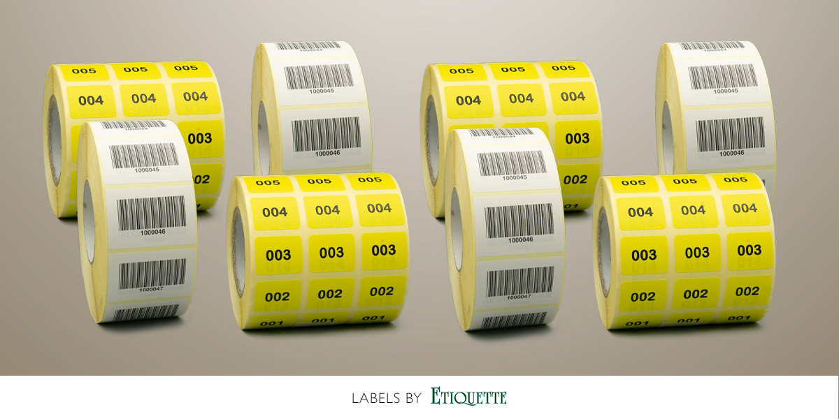 Barcode Labels and Sequentially Numbered Labels from Etiquette Labels