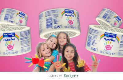 Printed Labels for Special Kids Sanitising Hand Gel