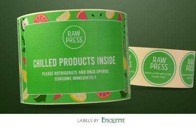 Frosty New Labels for Raw Press