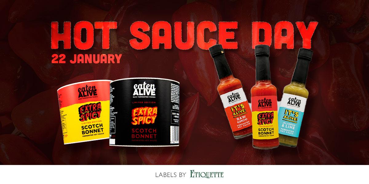 Hot Sauce Labels for Eaten Alive