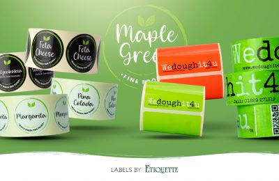 New Printed Labels for Maple Green Fine Foods