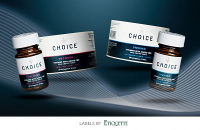 CBD Vitamins Printed Labels For Choice