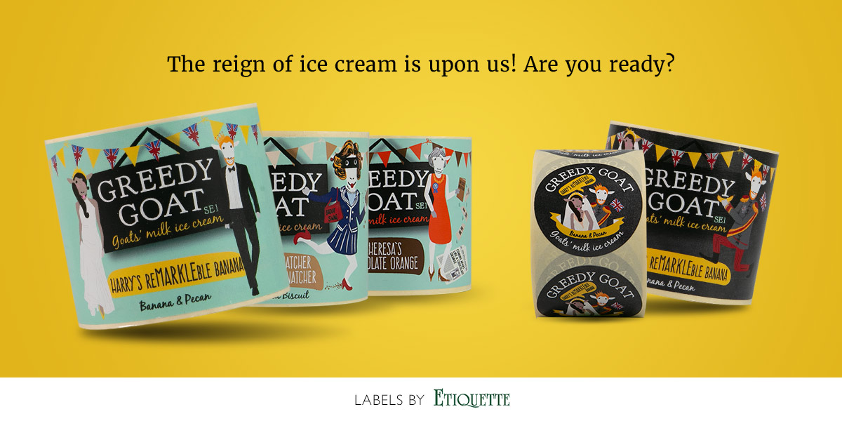 We print the nicest looking Ice Cream Labels!