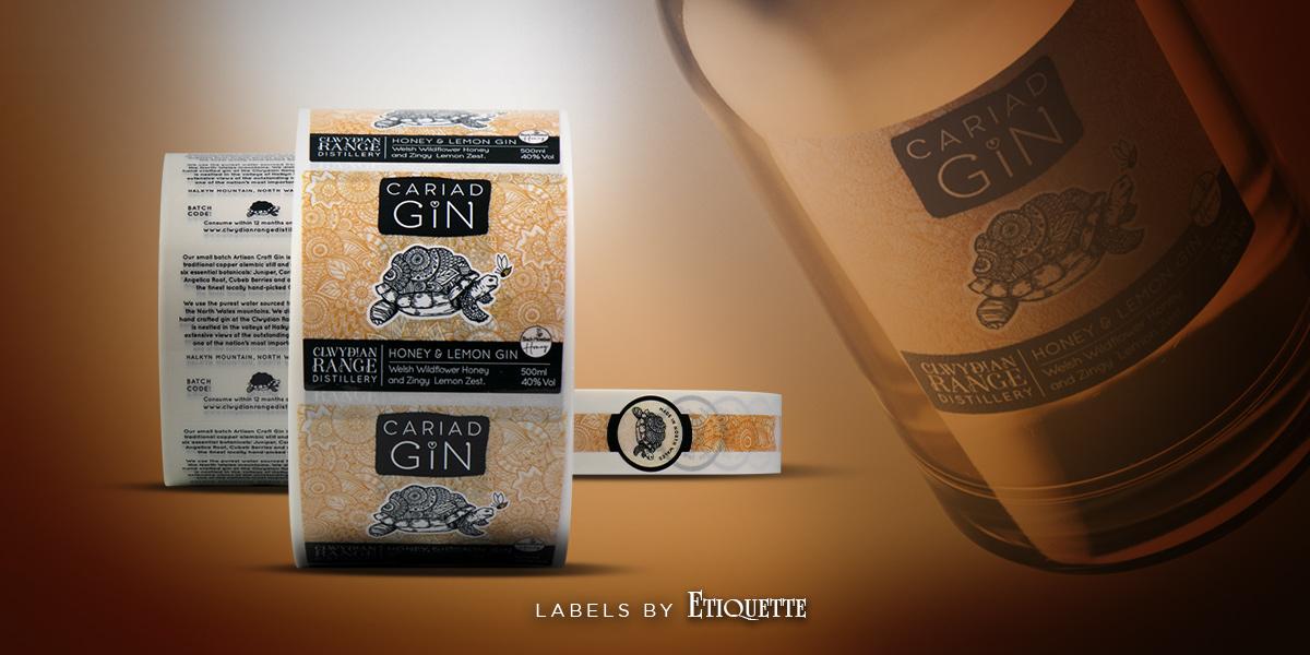 Cariad Gin Labels