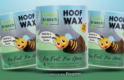 Digitally Printed Hoof Wax Labels