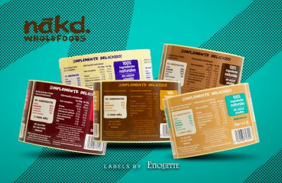 New Printed Tray Labels for Nakd Wholefoods