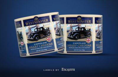 Printed Labels for Westminster Sharp Cheddar