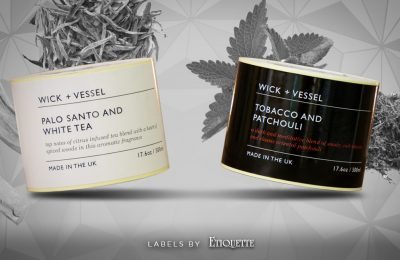 Exquisite Diffuser Labels for Wick + Vessel
